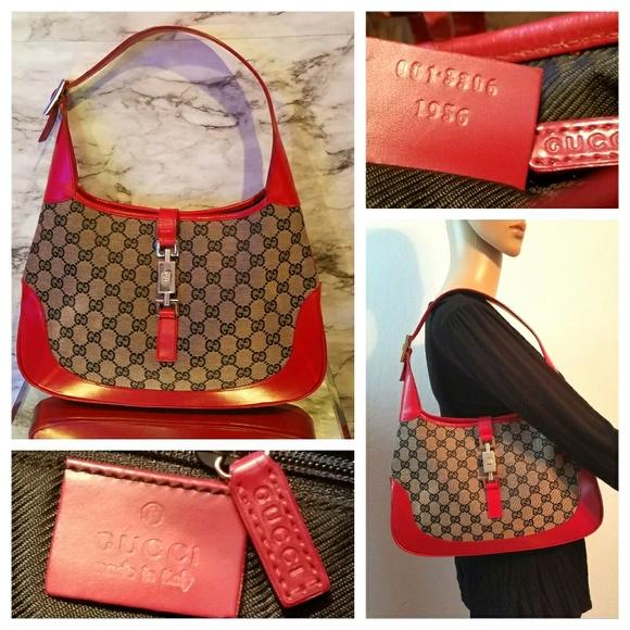 0ac6cf6590a4a Breathtaking Vintage GUCCI Red Jackie O Bag